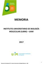 Memoria Científica IUBM 2017
